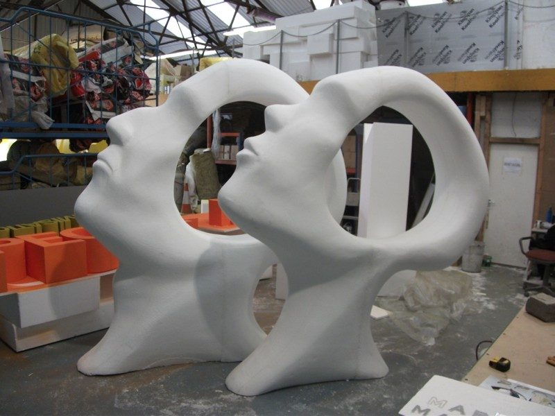 polystyrene sculptures uk